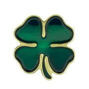 PinMart's Green Four Leaf Clover Shamrock St. Patrick's Day Lapel Pin