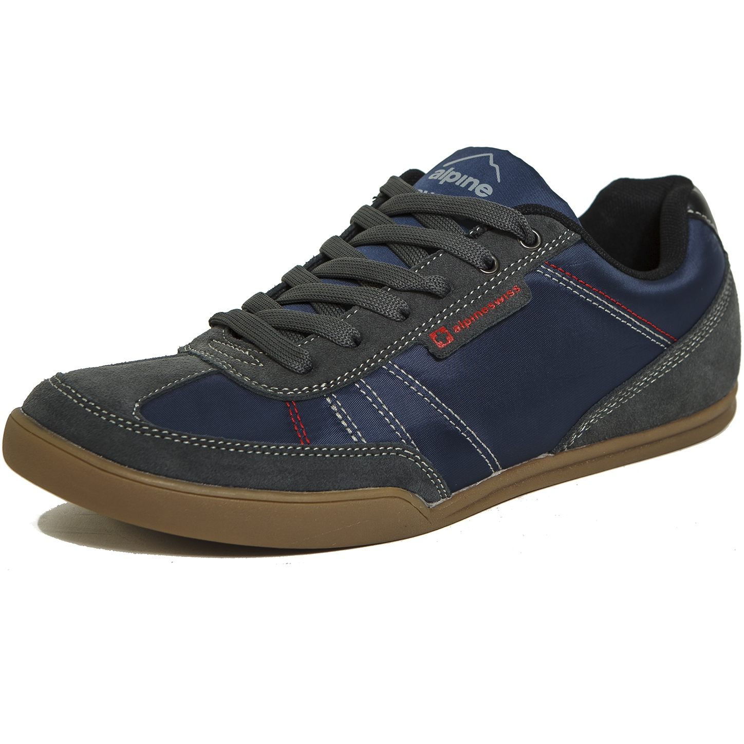Alpine Swiss Marco Mens Casual Shoes Sporty Lace up Jean & Sneaker ...