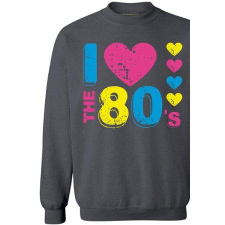 Awkward Styles I Love The 80's Sweatshirt 80's Sweater for Men and Women 80's Party Sweatshirt Gifts for 80's Lovers Funny 80's Party Costumes for Men and Women I Love The 80's Unisex Clothes