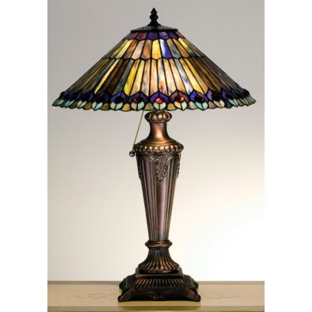 Meyda tiffany 27563 stained glass tiffany table lamp from the meyda tiffany 27563 stained glass tiffany table lamp from the jeweled peacock collection aloadofball Choice Image