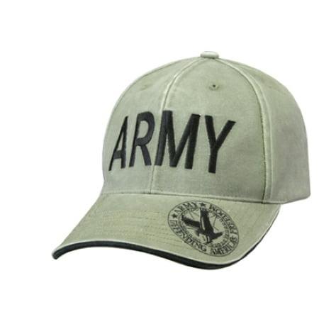 Army Vintage Olive Drab Deluxe Low Profile Baseball Cap - Walmart.com d64d5c3b777