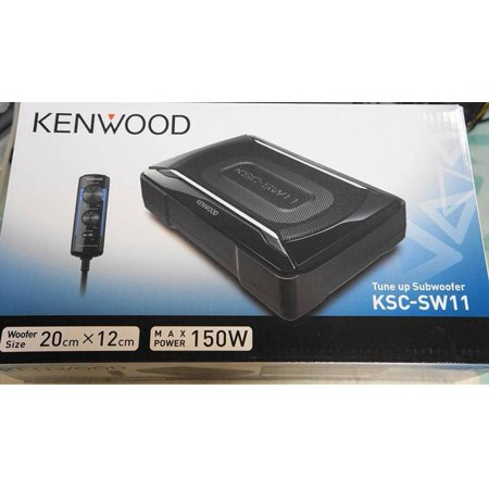 kenwood ksc sw11 150 w max powered subwoofer enclosure. Black Bedroom Furniture Sets. Home Design Ideas