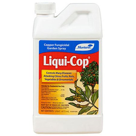 Monterey Liqui-Cop All Natural Fungicide For Disease Prevention - Pint LG3100, Size: 1 Pint By Monteray