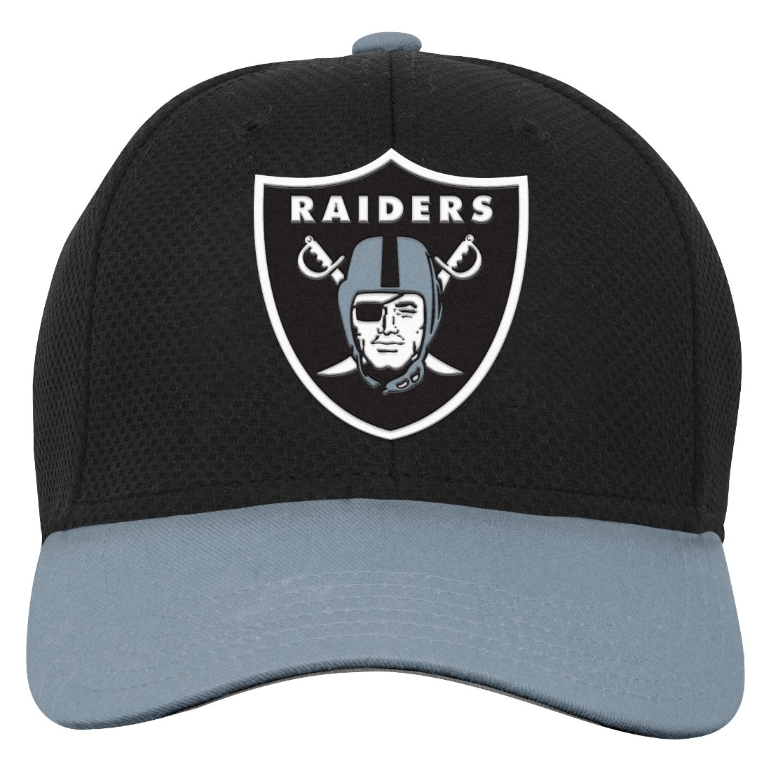 "Oakland Raiders Youth NFL ""Tech"" Structured Adjustable Hat"
