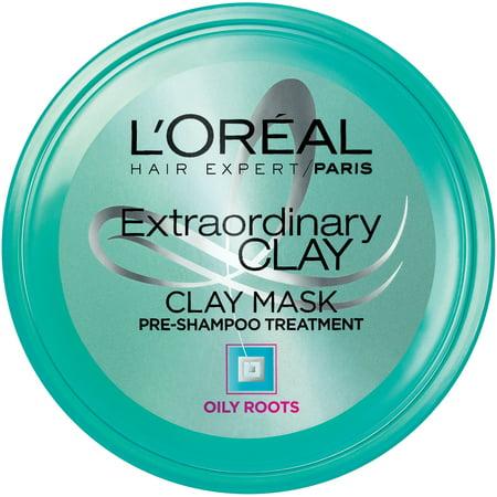 L'Oreal Paris Hair Expert Extraordinary Clay Pre-Shampoo Mask, 5.1 Fl