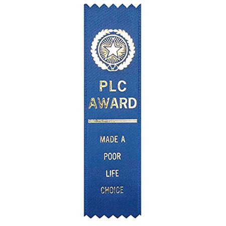 Adulting FTW PLC Made A Poor Life Choice Award Ribbon on Gift Card