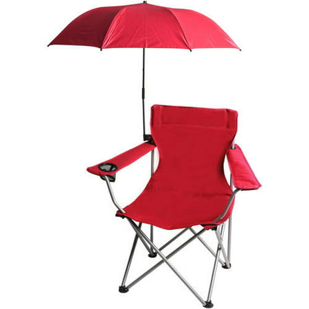 Ozark trail westfield outdoor chair umbrella red chair for Lawn chair with umbrella