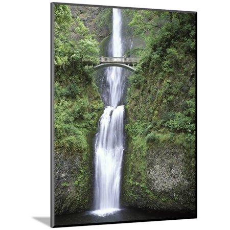 USA, Oregon, Columbia River Gorge Area, Scenic Waterfalls, Multonomah Falls Wood Mounted Print Wall Art By Chris (Wall Mounted Waterfall)