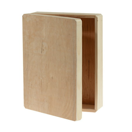 Darice Hinged Unfinished Wood Memory Box, 12 x 9.125 x 3.25 Inches (Wood Revolver)