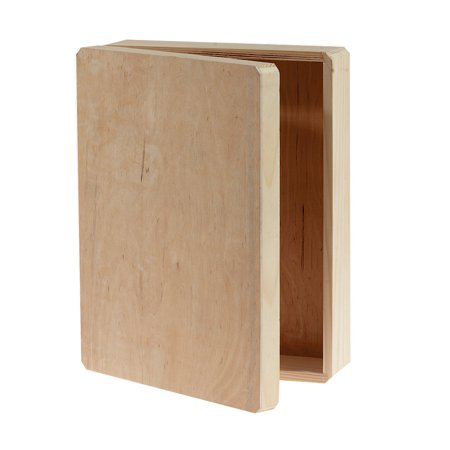 "Unfinished Wood Memory Box Hinged, 12"" x 9.125"" x 3.25"""