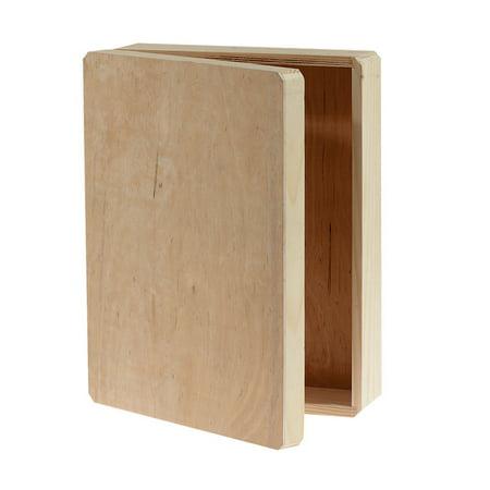 Unfinished Wood Memory Box Hinged, 12