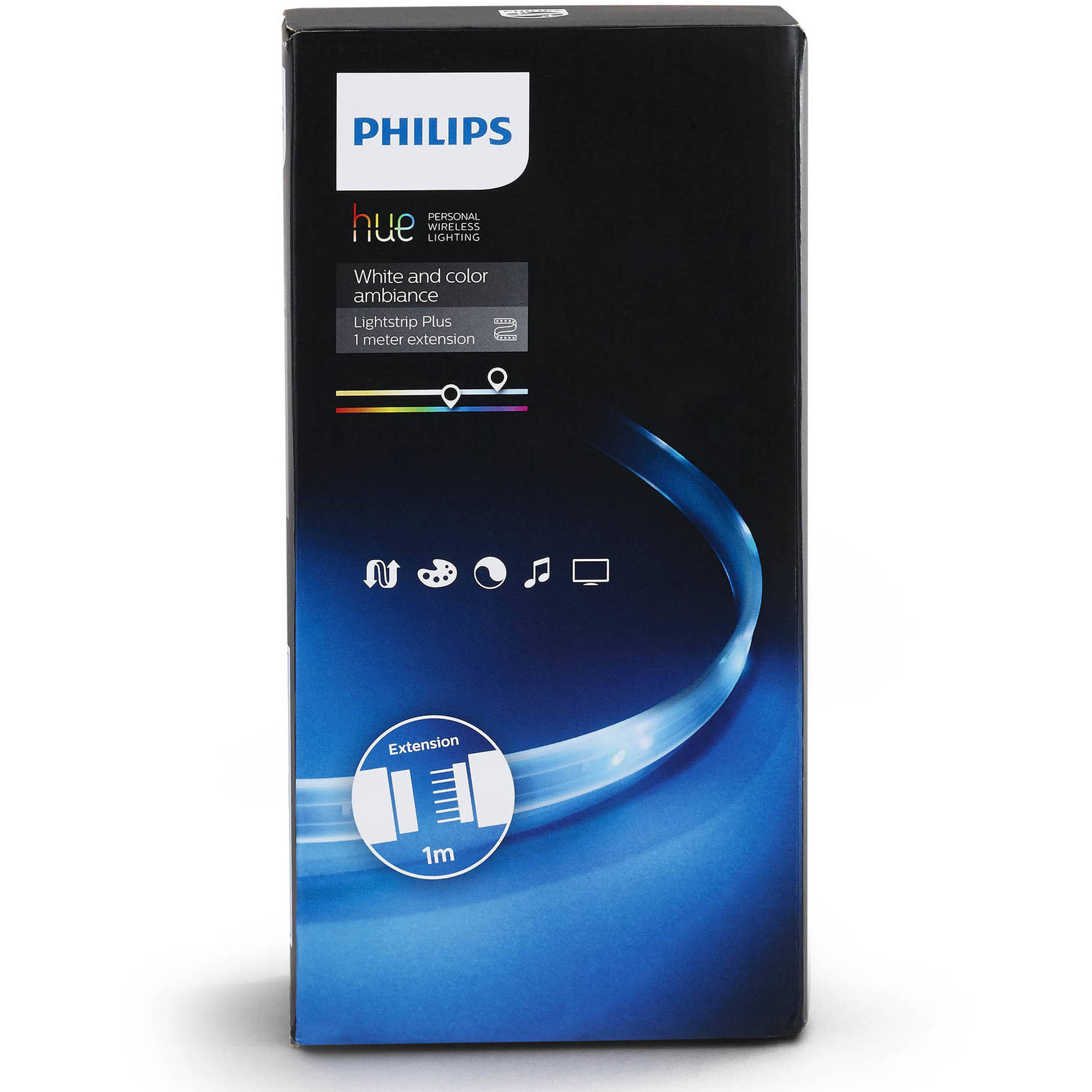 37bb79da212 Philips Hue White and Color Ambiance Smart Lightstrip Extension -  Walmart.com