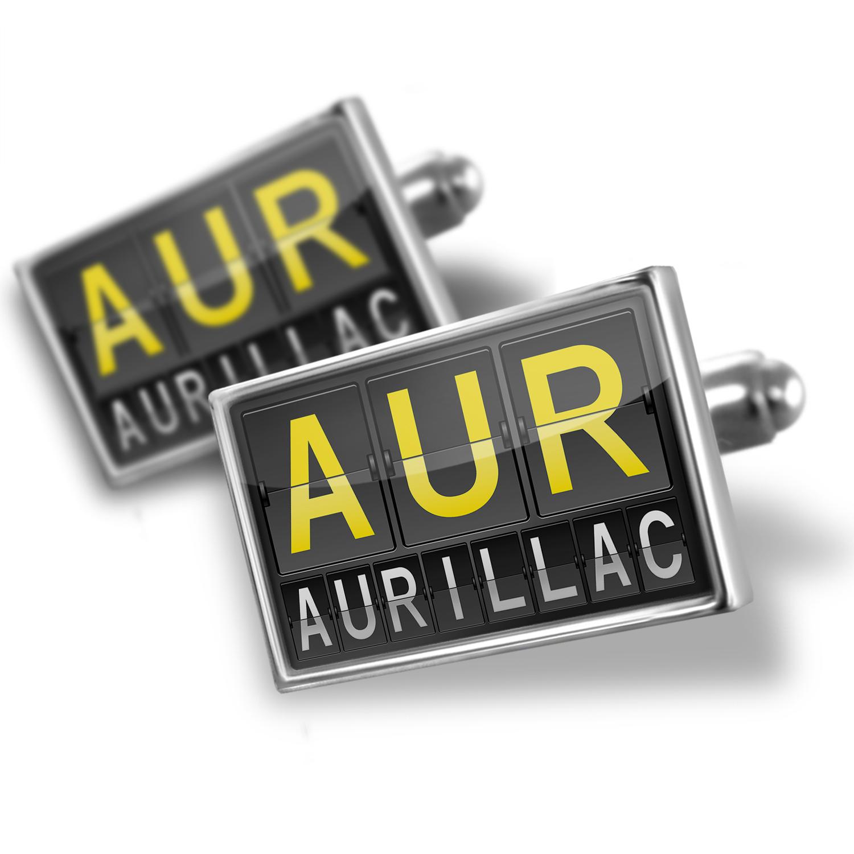 Cufflinks AUR Airport Code for Aurillac - NEONBLOND