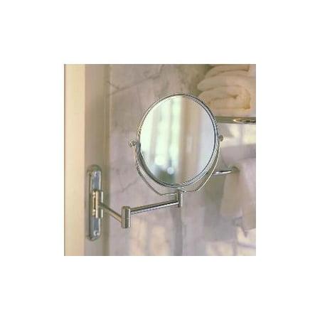 Swing Arm Rotating Mirror (Chrome)