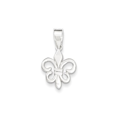 Sterling Silver Polished Fleur De Lis Pendant - SKU #145674 - Fleur De Lis Silver Tie Pin