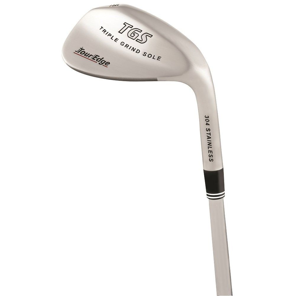 Tour Edge TGS Triple Grind Sole Wedge (304 STAINLESS) NEW