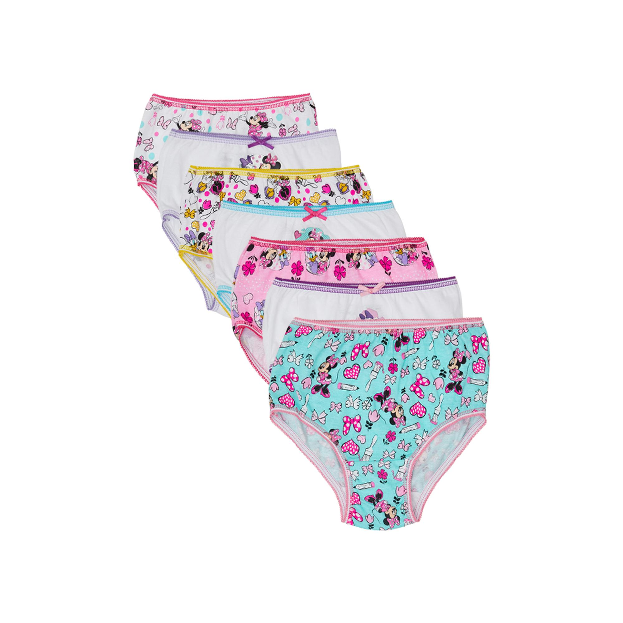 Disney Toddler Girl Underwear, 7-Pack