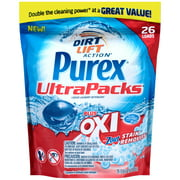 Purex® Liquid Laundry Detergent plus Oxi & Zout® Stain Removers  UltraPacks® 26 ct Stand-Up Bag
