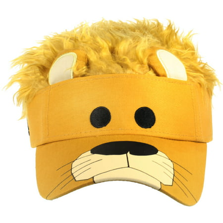 LION FACE VISOR - Yellow Flair Hair - GAG COSTUMES - Ric Flair Costumes