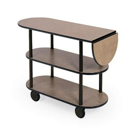 Geneva 36202 Oval 3-Shelf Open Service Cart ()