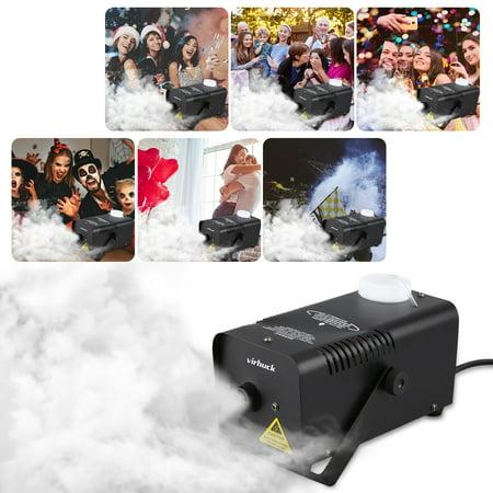 VIRHUCK 400-Watt Portable Fog Machine Halloween and Party Fog Machine with wireless Remote Control - Impressive - Miracle Watts Halloween