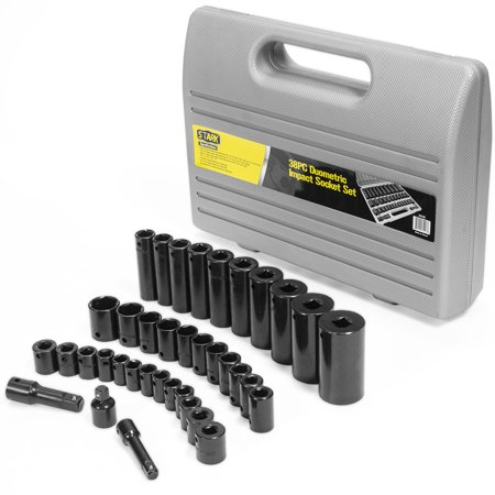 Stark 38-piece Impact Socket Set 6-Point SAE and Metric Deep Shallow 3/8