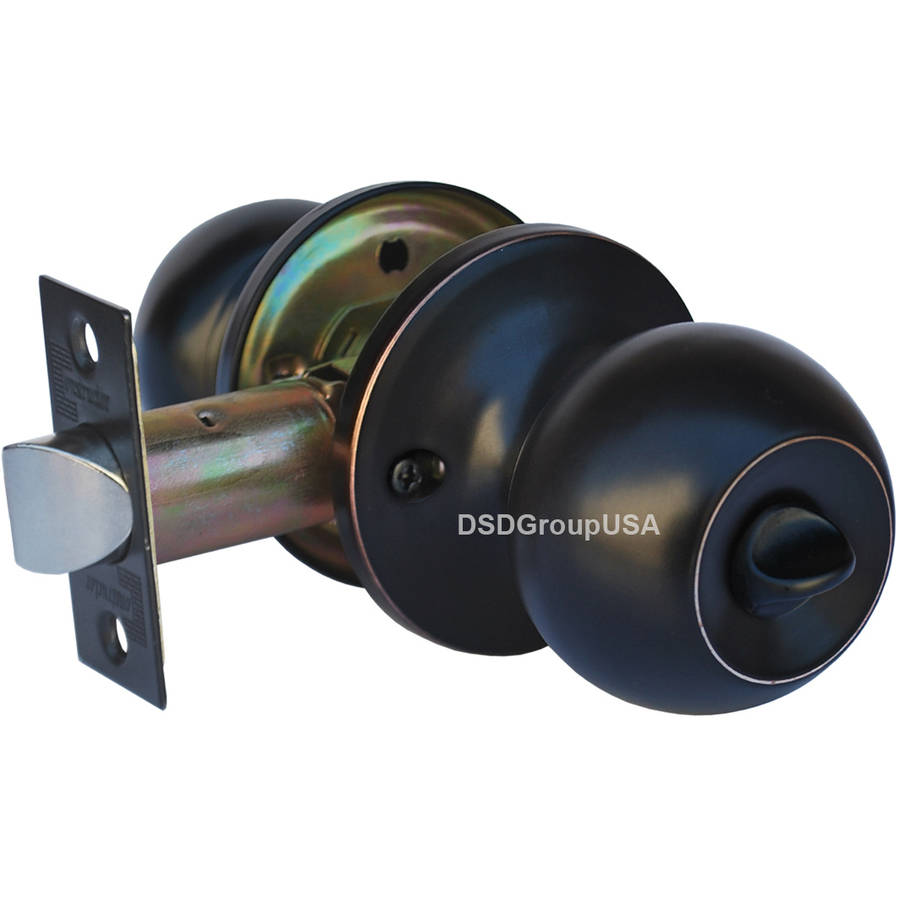 """Constructor"" Chronos Privacy Door Lever Lock Set with Knob Handle, Oil-Rubbed Bronze Finish"