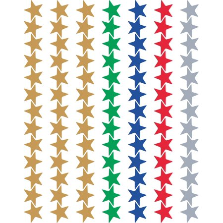 Assorted Foil Stars Stickers Valu-Pak