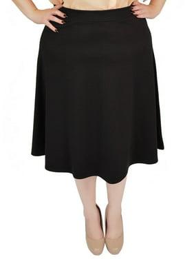 334911fd9c9 Product Image Plus Size Viscose A-Line Work Skirt - 2X (16-18)