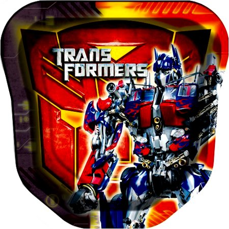 Transformers Large Shaped Paper Plates (8ct) ()