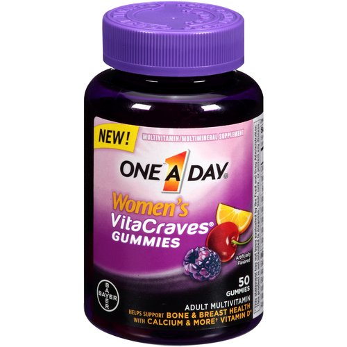 One a Day Women's VitaCraves Gummies Multivitamin/Multimineral Supplement, 50 count