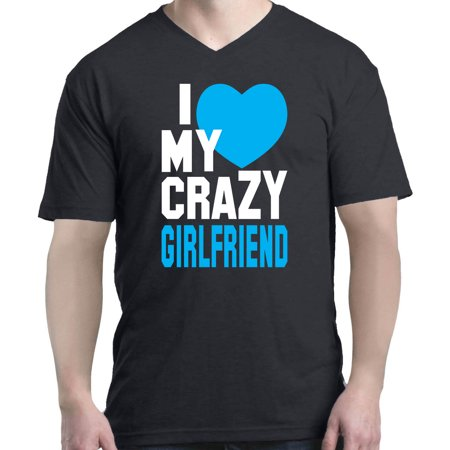 Shop4ever Shop4ever Mens I Love My Crazy Girlfriend Matching
