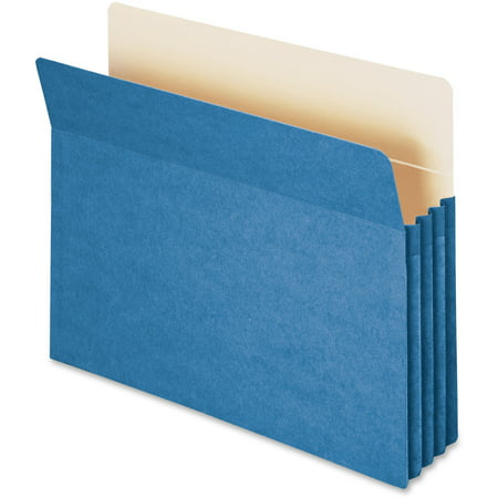 Smead, SMD73225, Drop Front Panel Colored File Pockets, 1 Each, Blue Drop Front Legal File