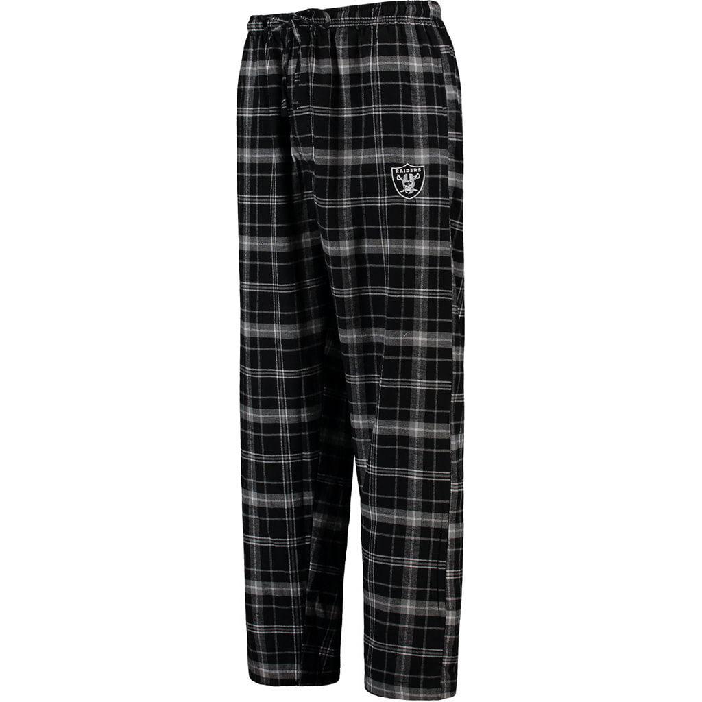 Oakland Raiders Concepts Sport Ultimate Plaid Flannel Pajama Pants - Black