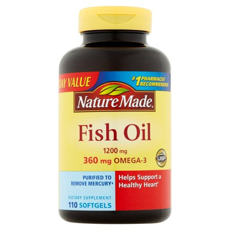 Nature made fish oil dietary supplement softgels 1200mg for Fish oil dry skin