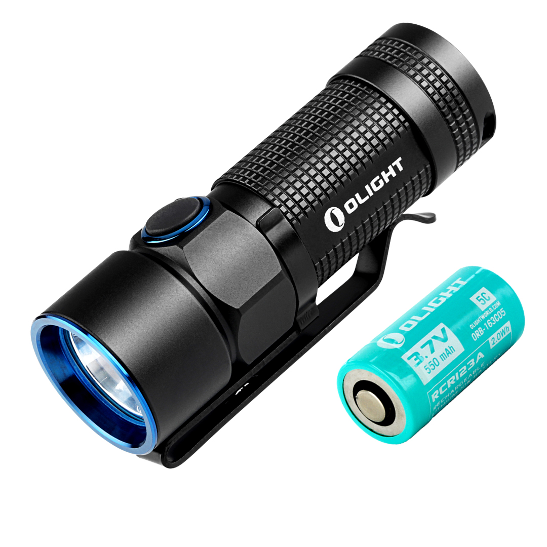 Olight S10R III 600 Lumen Mini USB Rechargeable LED Flashlight w/ Magnetic Charging Dock