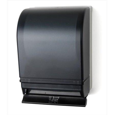 E-Z Taping System TD0215-01 Auto Transfer Push Bar Lever Towel Dispenser in Dark Translucent (Semi Auto Bar)