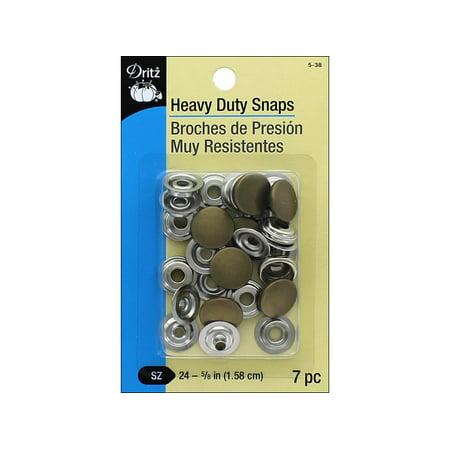 Dritz Heavy Duty Snaps Size 24 Ant Brass 7pc