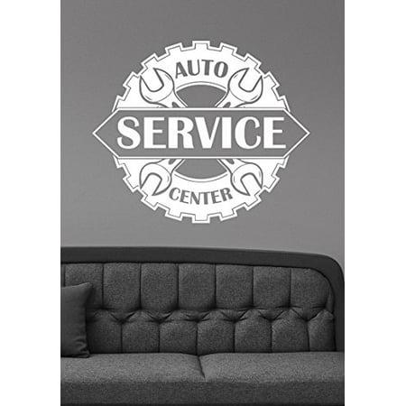 Auto Service Center Logo Removable Vinyl Window Sticker Custom Decal Car Mechanic Station Wall Art Decorations Garage Decor aus5