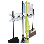 """Ex-Cell The Clincher Mop & Broom Holder, 34""""w x 5 1 2""""d x 7 1 2""""h, White Gloss, Each by EXCELL METAL PRODUCTS CO"""
