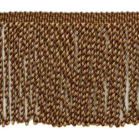 6 Inch Long|Toast, Camel Beige, Oak Brown Bullion Fringe Trim|Style# BFS6|Color: PR03 - Hazlenut|Sold By the Yard
