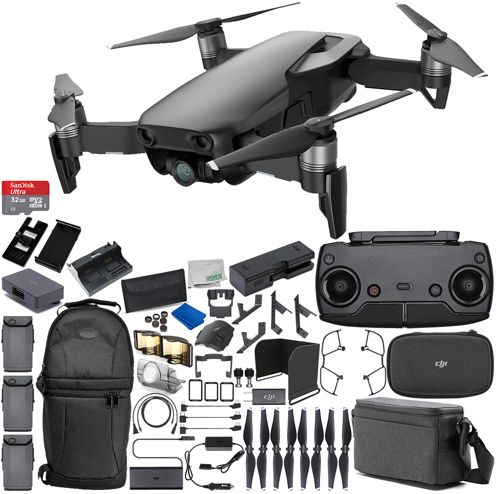 DJI Mavic Air Drone Quadcopter FLY MORE COMBO (Arctic White) 3 Battery Ultimate Bundle