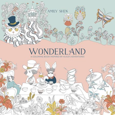 Wonderland: A Coloring Book Inspired by Alice's Adventures (Paperback)