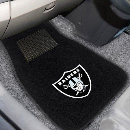 Las Vegas Raiders 2-Piece Embroidered Car Mat Set