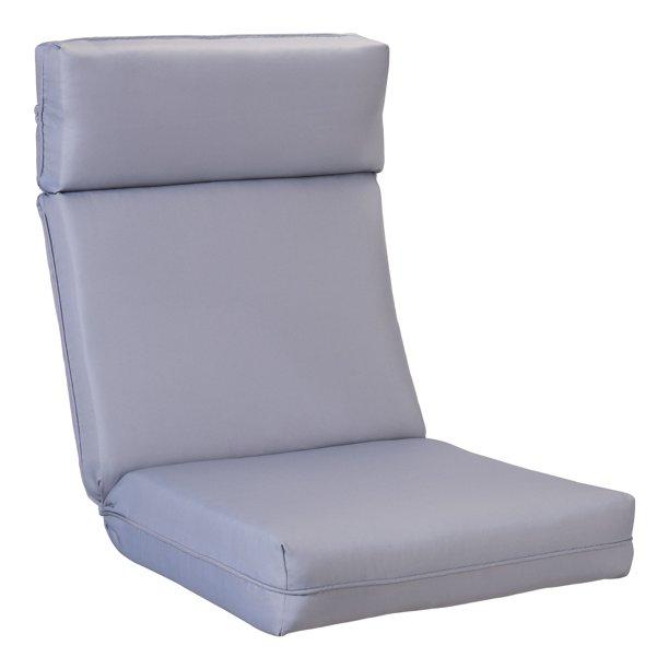 Better Homes Gardens Solid 1 Piece Dining Chair Cushion Grey Walmart Com Walmart Com