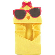 Hudson Baby Woven Terry Animal Hooded Towel, Cool Chick
