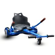 HoverTech 1 All In One Hover Cart Attachment For Hoverboard - Transform your Hoverboard into a Go Kart with Hovercart - Blue