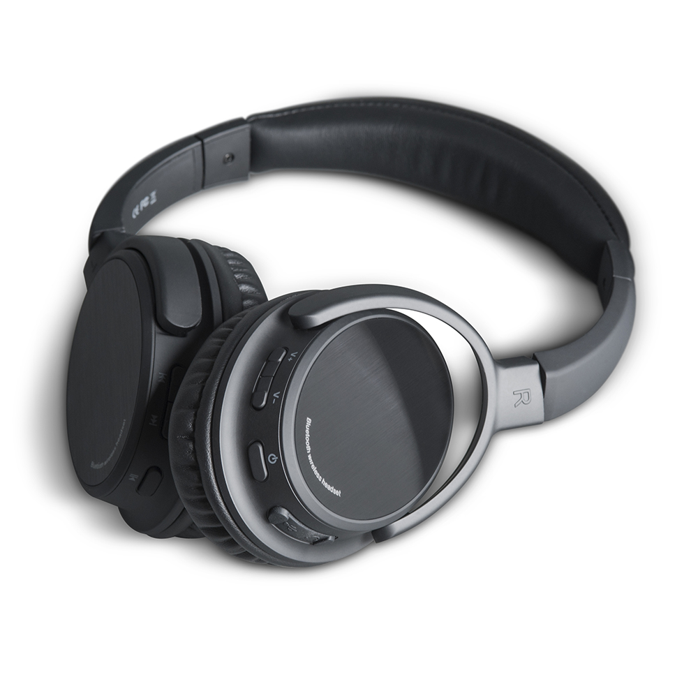 449984a46b0 Photive BTH3 Over-The-Ear Wireless Bluetooth Headphones with Built-in Mic  and 12 Hour Battery. Includes Hard Travel Case. - Walmart.com