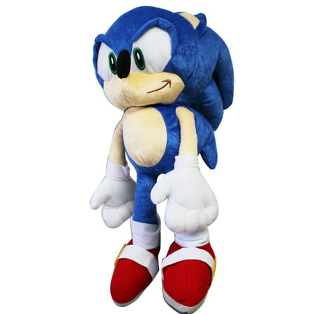 Sonic the Hedgehog Large Size Kids Plush Toy With Secret Zipper Pocket (17in) - Halloween Plush Toys