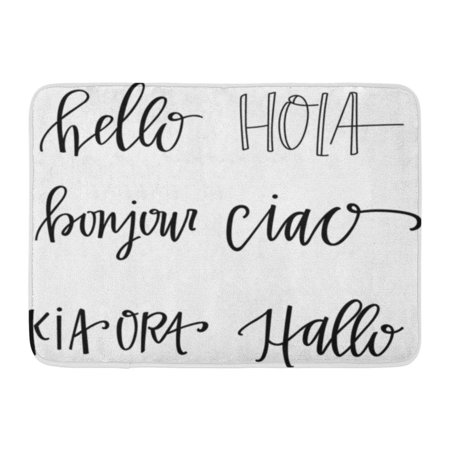 YUSDECOR Hola Bonjour Hello in Different Languages Ciao Lettering Rug Doormat Bath Mat 23.6x15.7 inch - image 1 of 1